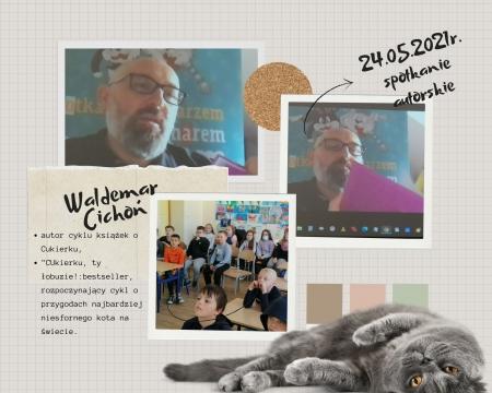Spotkanie autorskie z Waldemarem Cichoniem w klasach 1-3