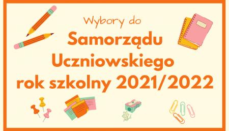 Wybory do SU na rok szkolny 2021/2022